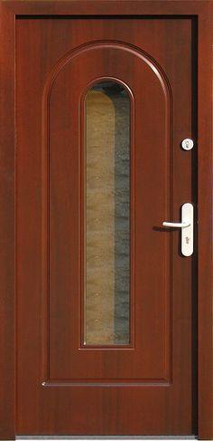 Drewniane wejściowe drzwi zewnętrzne do domu z katalogu modeli klasycznych wzór 571s2