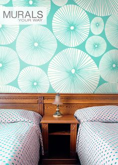 Love the modern pattern on this mural wallpaper! #myMYWmural