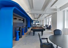 LinkedIn offices in the Empire State Building include a hidden speakeasy. New York City, NY