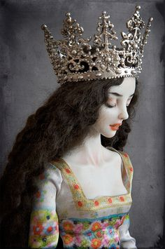 "cast sterling crown for ""Banshee"" doll - Enchanted Dolls by Marina Bychkova (Canadian artist w/ Russian art influences - born in Siberia, Russia; 14yrs when emigrated)"