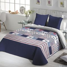 Colcha Bouti NORAY Fundeco - Comprar Colchas Bouti Estampadas Juveniles - Gauus Bed Covers, Comforter Sets, Comforters, Blanket, Bedroom, Home, Info, Ideas, Bedrooms