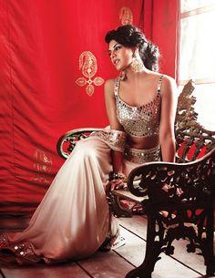 Jacqueline Fernandez in Mirror Work #Saree.