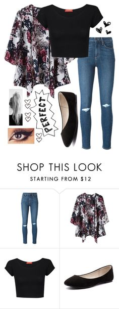 """""""Back to School Chic"""" by sassydannigirl ❤ liked on Polyvore featuring Paige Denim, Influence and Verali"""