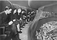 """""""Democracity"""" exhibit of a future US city in the year 2039 at the World's Fair in 1939"""