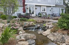 Water Gardens and Waterfalls - traditional - landscape - chicago - by Aquascape Inc.