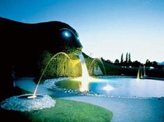 """Swarovski Crystal World in Wattens/Tirol Germany    The """"place of amazement"""" is certanly the water-spouting head of an alpine giant that shapes the entry to an underground experience exposition, where Chambers of Wonder ignite beacons of imagination. Experience the phenomenon of sparkling crystals with all senses."""