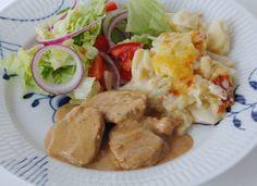Ädelostgryta med fläskfile och potatisgratäng