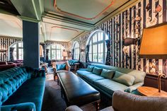 Hotel Le Grand Bellevue in Gstaad, Swiss Alps is a luxury boutique hotel. Hotel Le Grand Bellevue in Gstaad has chic rooms, a large spa & Michelin restaurant. Swiss Alps, Grand Hotel, To Go, Couch, Luxury, Gallery, Interior, Room, Hotels