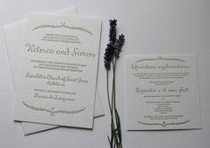 Wedding invitation & rsvp card