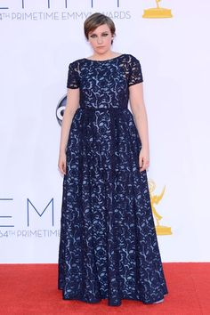 Fashion Fail: 2012 Emmy Awards, Lena Dunham in Prada Lena Dunham, Ugly Dresses, Cute Dresses, Celebrity Dresses, Celebrity Style, Trendy Clothing Stores, Architecture Design, Vip Fashion Australia, Prada Dress