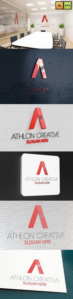 """@Behance projeme göz atın: """"Athlon Creative Logo""""…"""