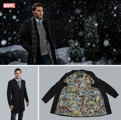 Superhero Marvel Comics Wedding Overcoat Fantastical Weddings Overcoat fantasticalweddings.com Marvel Comic Print Overcoat Comic Wedding, Marvel Wedding, Geek Wedding, Marvel Comics Superheroes, Geek Stuff, Celestial, Weddings, My Style, Beach