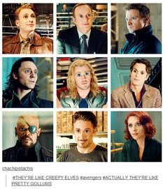 This is what the avengers would look like if that had the same size eyes as me....