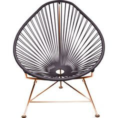 Innit Designs Acapulco Chair | Copper/ Grey Gray