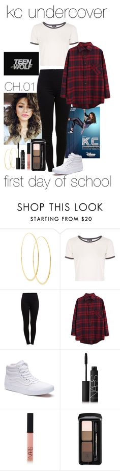 """""""KC Undercover [01]"""" by nessahoran ❤ liked on Polyvore featuring Lana, Coleman, Topshop, Pieces, WithChic, Vans and NARS Cosmetics"""