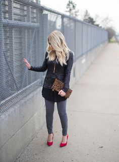 sequins and lace outfit