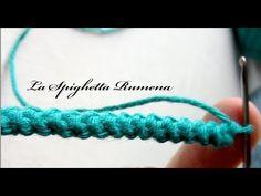 Crochet Cord, Freeform Crochet, Crochet Stitches, Crochet Patterns, Macrame Bracelet Tutorial, Macrame Bracelets, Easter Crochet, Crochet Crafts, Crochet Hooded Scarf