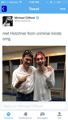 OMG--HIM BEING EXCITED ABOUT MEETING HOTCH MAKES ME REALLY EXCITED BECAUSE I LOVE CRIMINAL MINDS