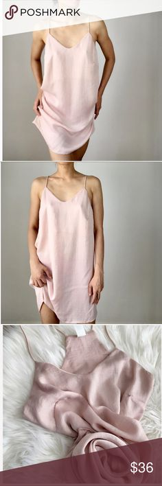 CHICBOMB Woman's chic silky blush slip dress Incredibly chic blush colored silky slip dress. Racerback. Simply the easiest thing to put on and look sexy. Wear it alone with flats and a denim shirt or jacket or heels and a messy bun for date night. This is the most versatile dress you could own. I accidentally ordered two, thought I would keep it as a back up but the quality has proven that two won't be needed and I should sell this second one of mine. Size small (runs big, would fit a medium…