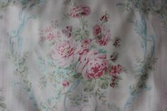 cotton fabric shabby chic white pink by VintageChicFurniture