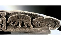 Pictish bear on a stone cross-slab found near the churchyard at Meigle (Perth and Kinross) Neck Bones, Early Humans, Mystery Of History, Ancient Mysteries, Celtic Art, Iron Age, Celtic Designs, Picts, Stone Carving