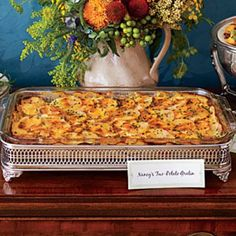 Hearty Thanksgiving Casseroles: Two-Potato Gratin