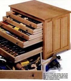 wood tool cabinets & drawers - Bing Images***Research for possible future project.