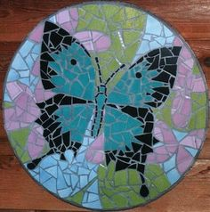Ulysses butterfly mosaic table created in ceramic tile by Brett Campbell Mosaics Pebble Mosaic, Pebble Art, Mosaic Art, Mosaic Glass, Mosaic Tiles, Mosaic Crafts, Mosaic Projects, Diy Projects, Butterfly Mosaic