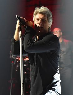 "Jon Bon Jovi of Bon Jovi performs on Broadway during the final Tidal X live listening party for the upcoming album ""This House Is Not For Sale"" at the Barrymore Theatre on November 20, 2016 in New York City. The album will be released on November 4th."