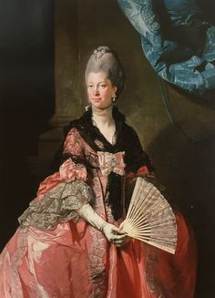 Category:Paintings of Charlotte of Mecklenburg-Strelitz by Johann Zoffany Painted Fan, Hand Painted, 18th Century Fashion, Victorian Art, Historical Costume, Portrait Art, Fashion History, Hand Fan, Art History
