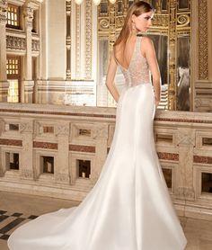 Illusion Style 3213 by Demetrios #MacysBridalSalon #chicago #bridal #gown #weddingdress #Demetrios
