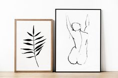 Black and White Nude Print. Line Art Print. Black and White Nude Art Print. Line Contour. Minimal Line. Line Prin Female Drawing, Human Figure Drawing, Figure Drawing Reference, Female Art, Figure Drawings, Anatomy Reference, Minimal Drawings, Easy Drawings, Charcoal Drawings