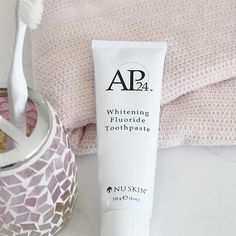 AP 24 Anti-Plaque Fluoride Toothpaste uses a safe, gentle form of fluoride to remove plaque and protect against tooth decay. Ap 24 Toothpaste, Whitening Fluoride Toothpaste, Teeth Whitening, Nu Skin, Glycerin, Stained Teeth, Beauty Magazine, White Teeth, Dry Brushing