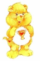 The original Champ Bear was yellow