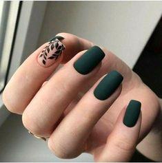 Fantastic Green Nail Art Designs Ideas Designer nails can really make you look fashionable and chic. Nail art is one way to make your nails look […] Matte Green Nails, Green Nail Art, Matte Nail Polish, Autumn Nails, Winter Nails, Acrylic Nails Green, Acrylic Nails For Fall, Stylish Nails, Trendy Nails