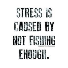 Stress is caused by NOT enough fishing!