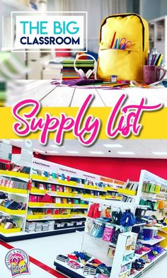 The big classroom supply list for middle and high school teachers #ClassroomSupplies #BacktoSchool #ClassroomOrganization #MiddleSchoolTeacher