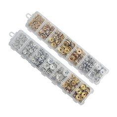 Beads  1Box/lot Mix 6/8/10/12mm Dia Gold/Silver Plated Metal Rondelle Spacer Beads Rhinestone Loose Crystal Beads Jewelry Making F3747 -- A oferta pode ser encontrada clicando no botão VISITAR