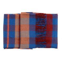 blue plaid scarf by A Peace Treaty