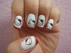 Cute kitty nails - 40  Cute Nail Designs  <3 <3
