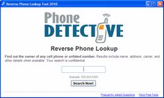 reverse phone lookup - Google Search http://reversephonelookups.us