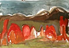 Meagan Jacobs Artist - Moment in Time - Gouache on paper