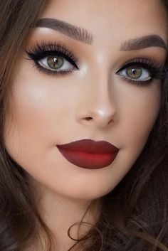 Classic Red Lipstick Makeup Look