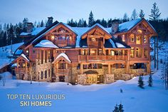 """Whitefish Mountain - a sprawling """"ski home"""", some people really do have enormous wealth that they could build something this big just as their ski lodge."""
