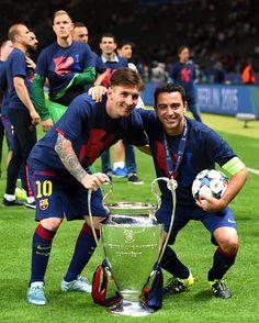#Xavi25 y Leo Messi