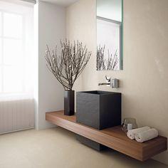 Into the Materia     /     Idea madera para baño pequeño!!!!!