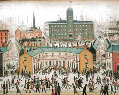 V.E. Day Celebrations by L S Lowry (1 November 1887 – 23 February 1976) - http://en.wikipedia.org/wiki/L._S._Lowry