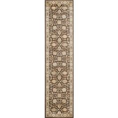Charlton Home Lavelle Brown/Ivory Area Rug Rug Size: Runner 2' X 8'