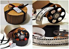 We LOVED this movie reel invitation our guest designer Regina Easter created using #Tombow #Xtreme