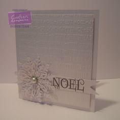 @crafterscomp Centura Pearl, Sentiments embossing folder from Bebunni Christmas range and Die'sire snowflake dies